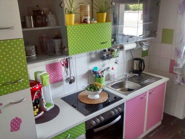 DIY Kitchen: Etwas d-c-fix Folie und aus einer alten schlichten ... | {Folie küchenfront 8}