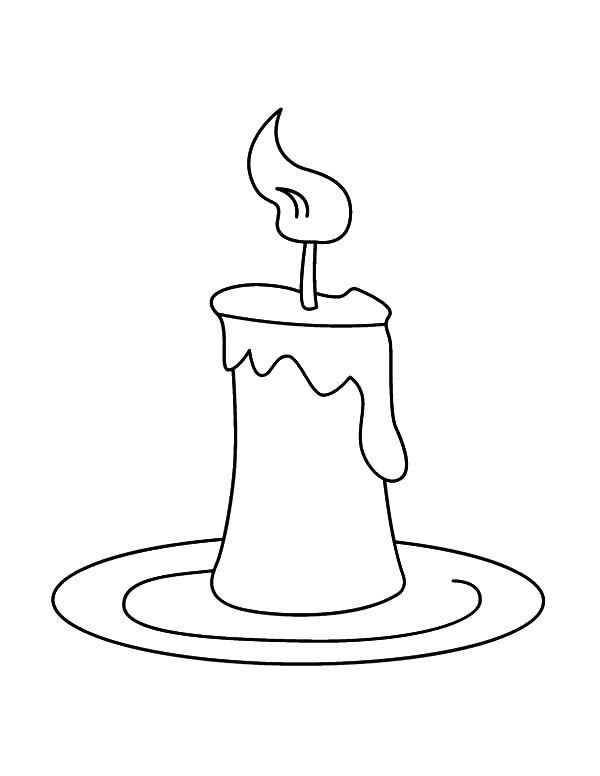 Candle On Plate Coloring Pages Colorful Candles Coloring Pages
