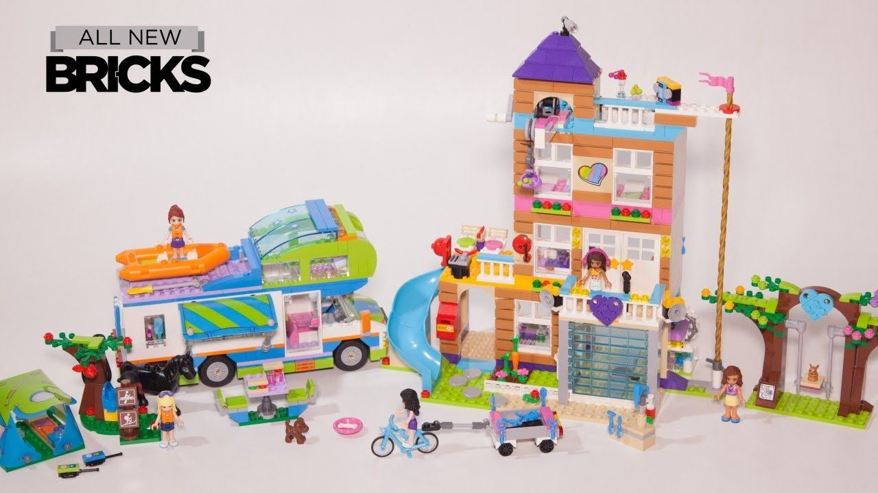 Lego Friends 41340 Friendship House With Mias Camper Van Lego Speed
