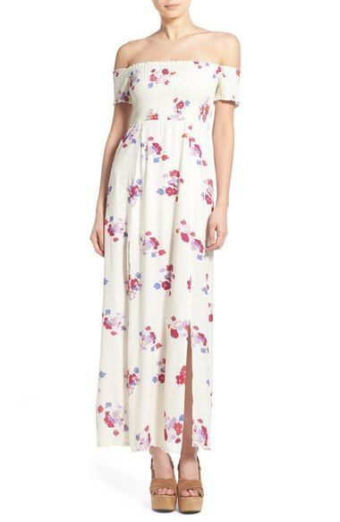 e181e2ef6e5 MINKPINK  Falling Blooms  Off the Shoulder Maxi Dress available at   Nordstrom