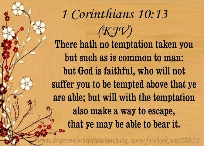 Image result for 1 Corinthians 10:13  kjv