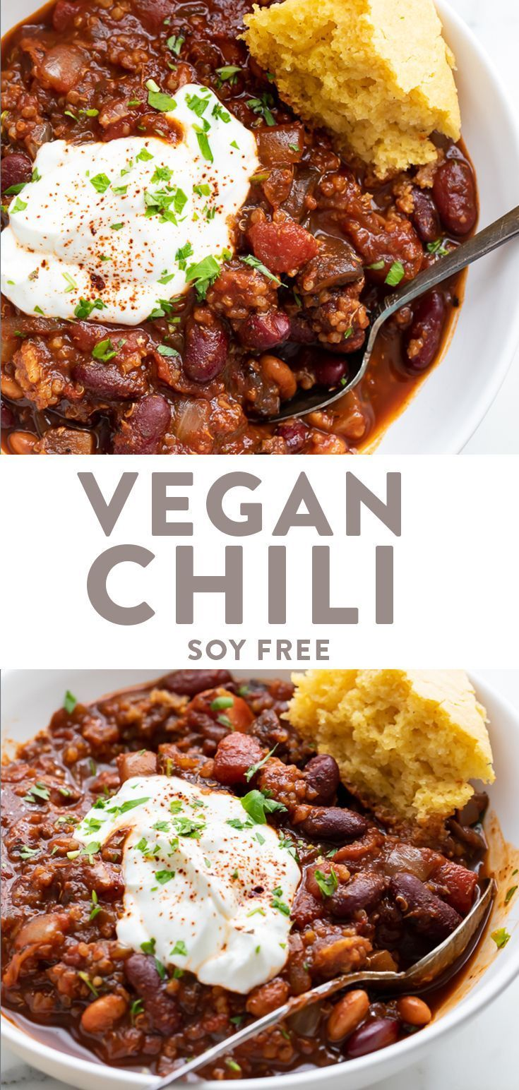 Vegan Chili #healthyweeknightmeals