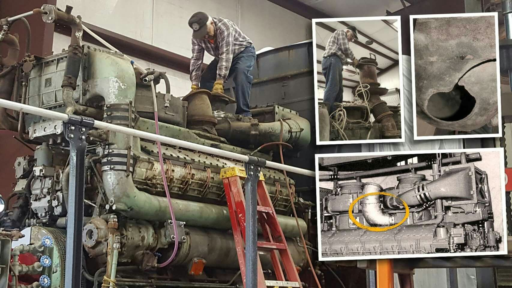 medium resolution of sp 9010 crew chief howard wise on the discoveries from last week s trial starting attempt of the maybach md 870 1 motor serial 91168