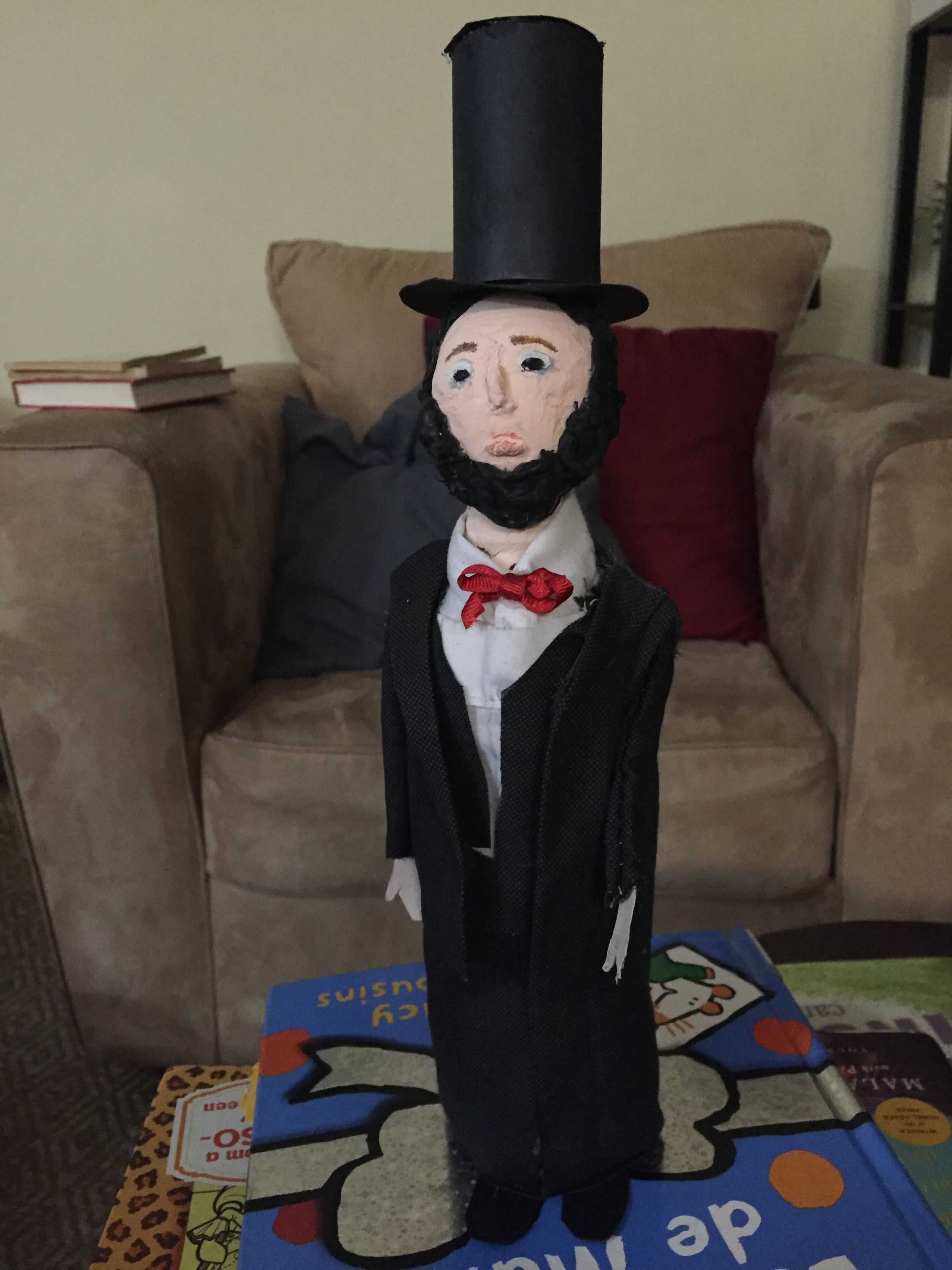 Abraham Lincoln Bottle Person 3rd Grade Project