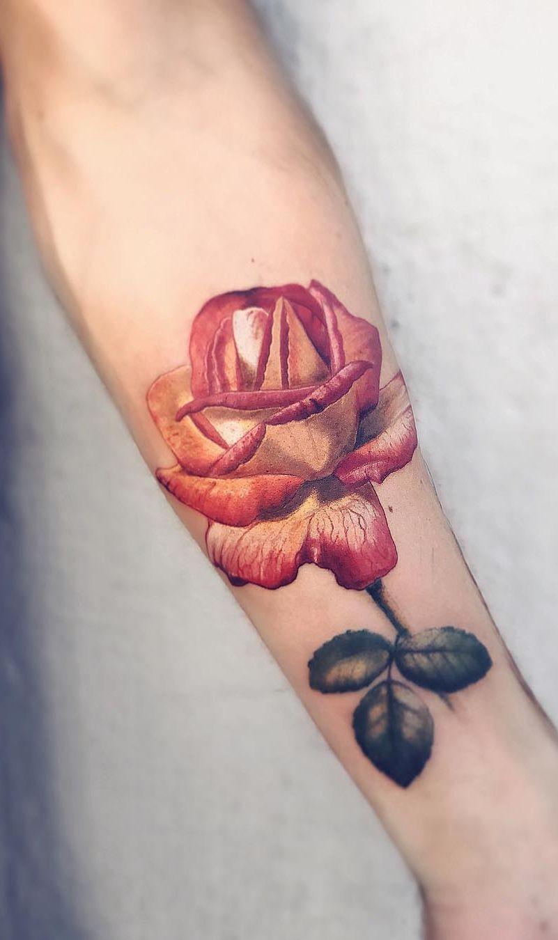 Jaw Dropping Realistic Rose Tattoo C Tattoo Artist Pony Wave