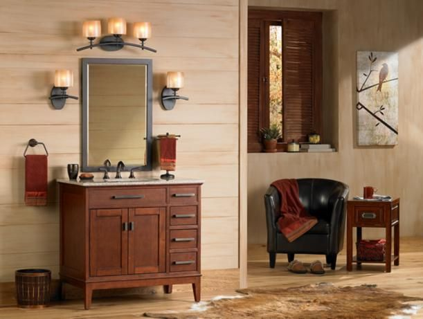 Rooms To Go Mission Style Bathroom Vanity Picture
