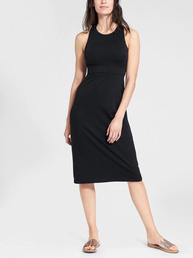 9132738367ede NWT Athleta Deep Breathe Bralette Dress Black Extra Extra Small XXS  777122   fashion