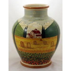 Artistica - Italian Ceramics, | Artistica Italian Ceramics: PAESAGGIO: Vase Palla - Polyvore