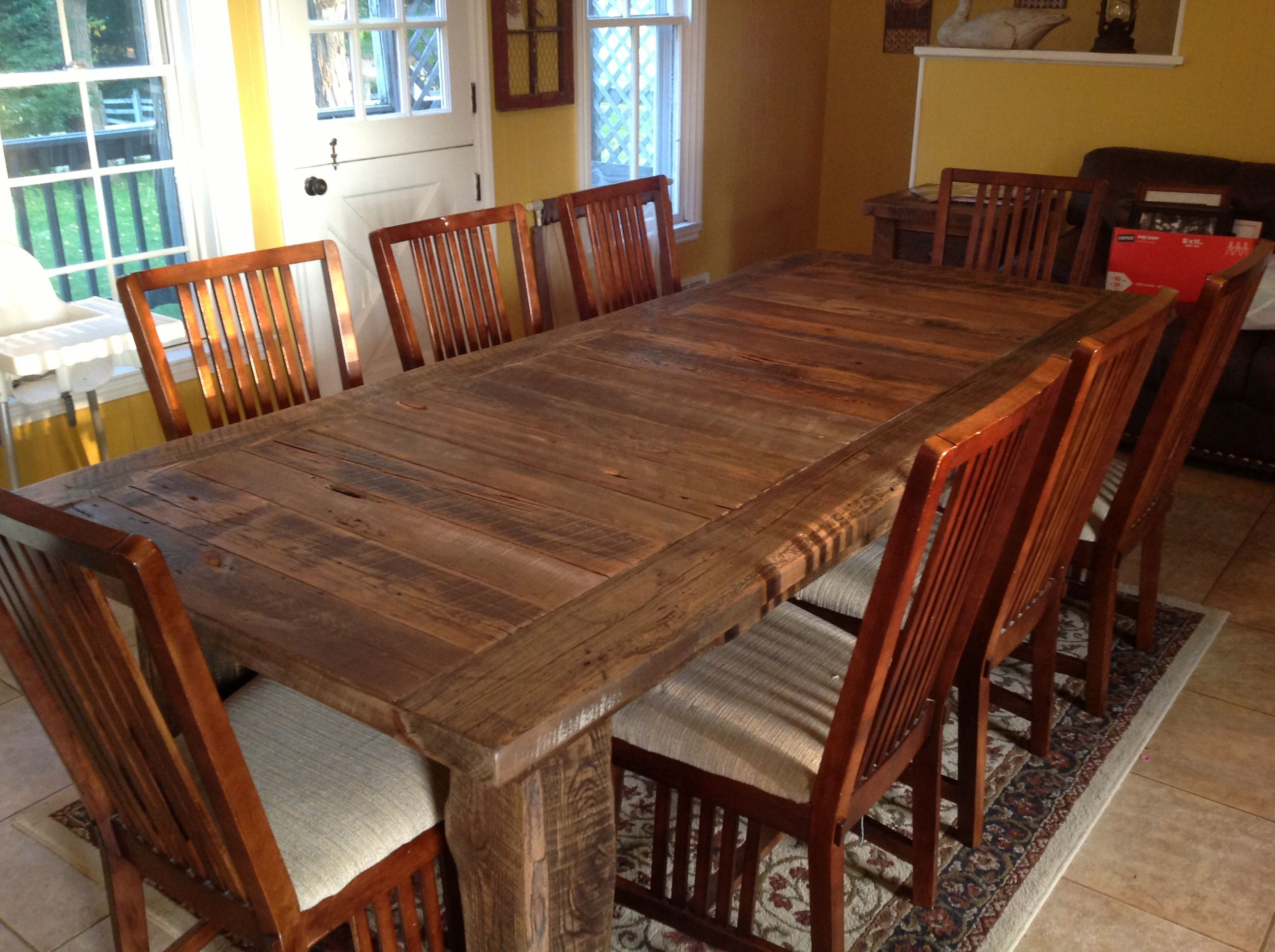 Reclaimed Wood Table Michigan Unique Farmhouse