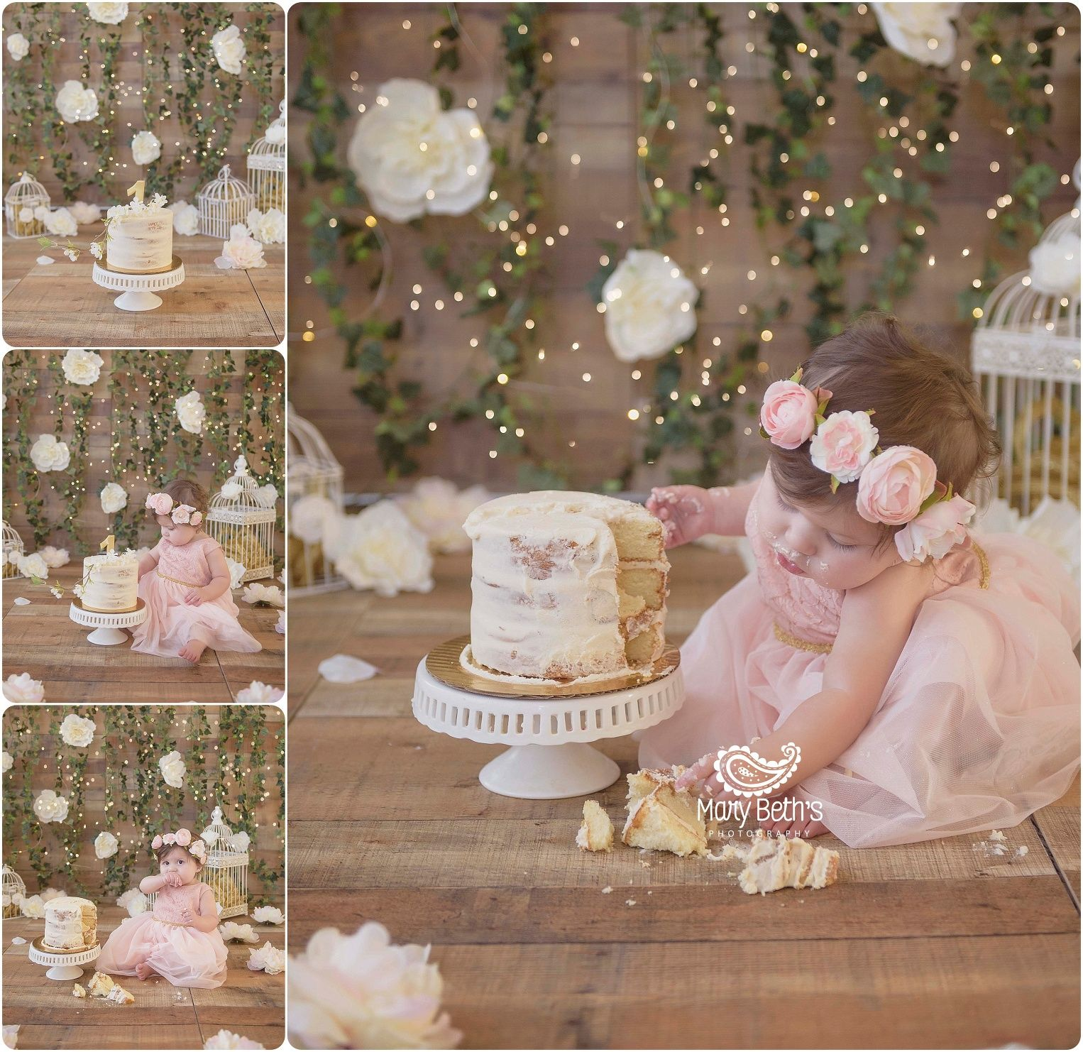 Birthday Party Ideas Augusta Ga: Floral Themed Cake Smash And 1st Birthday Portraits For