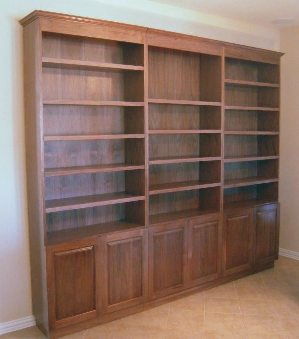 These Are Three Separate Bookcases Made From Furniture Grade Walnut Plywood,  With Solid Walnut Trim