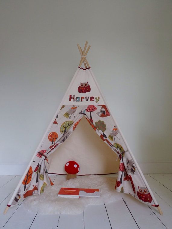 PERSONALISED Childrenu0027s Teepee Play tent. Choice by LittleMeTeepee & PERSONALISED Childrenu0027s Teepee Play tent. Choice by LittleMeTeepee ...