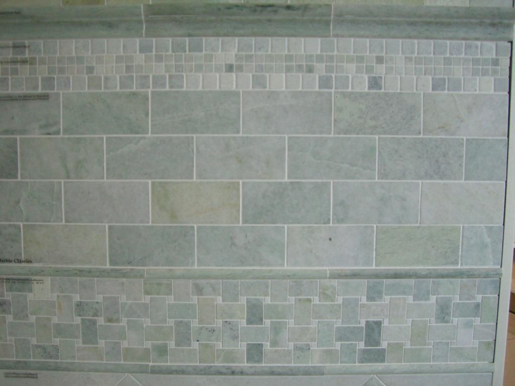 excellent dimensions of subway tile. Marble Subway Tile Ming Green  Size 3 x6 with 2 x12
