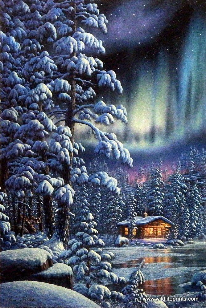 установить живую картинку на телефон зима
