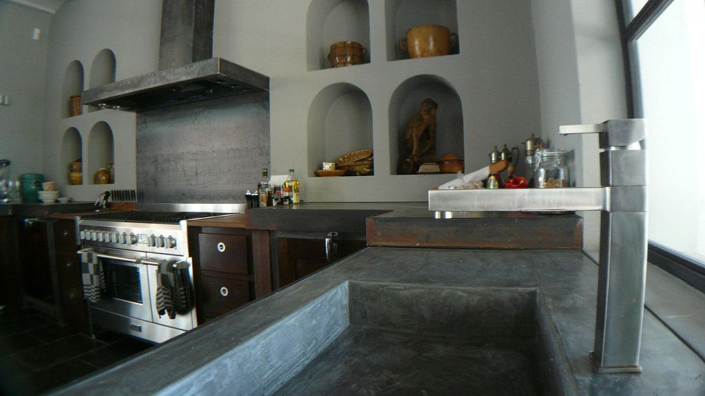 Encimeras de cemento pulido decorar tu casa es for Cocinas de concreto