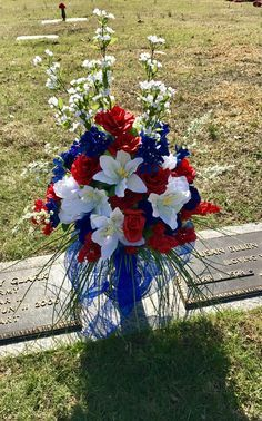 Memorial Day Arrangement For Grave