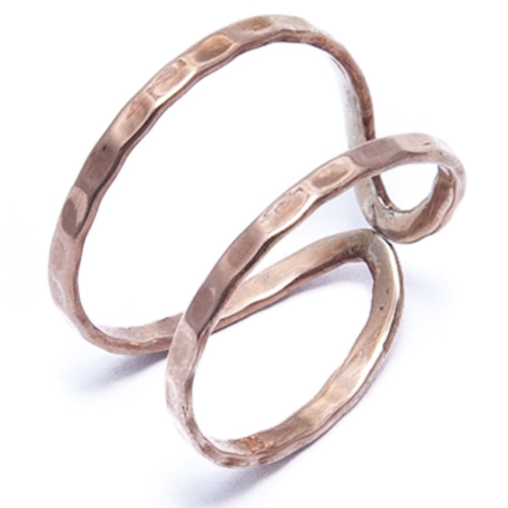 Angle Diamond Dot Eternity Rose Gold Ring Costume Jewelry