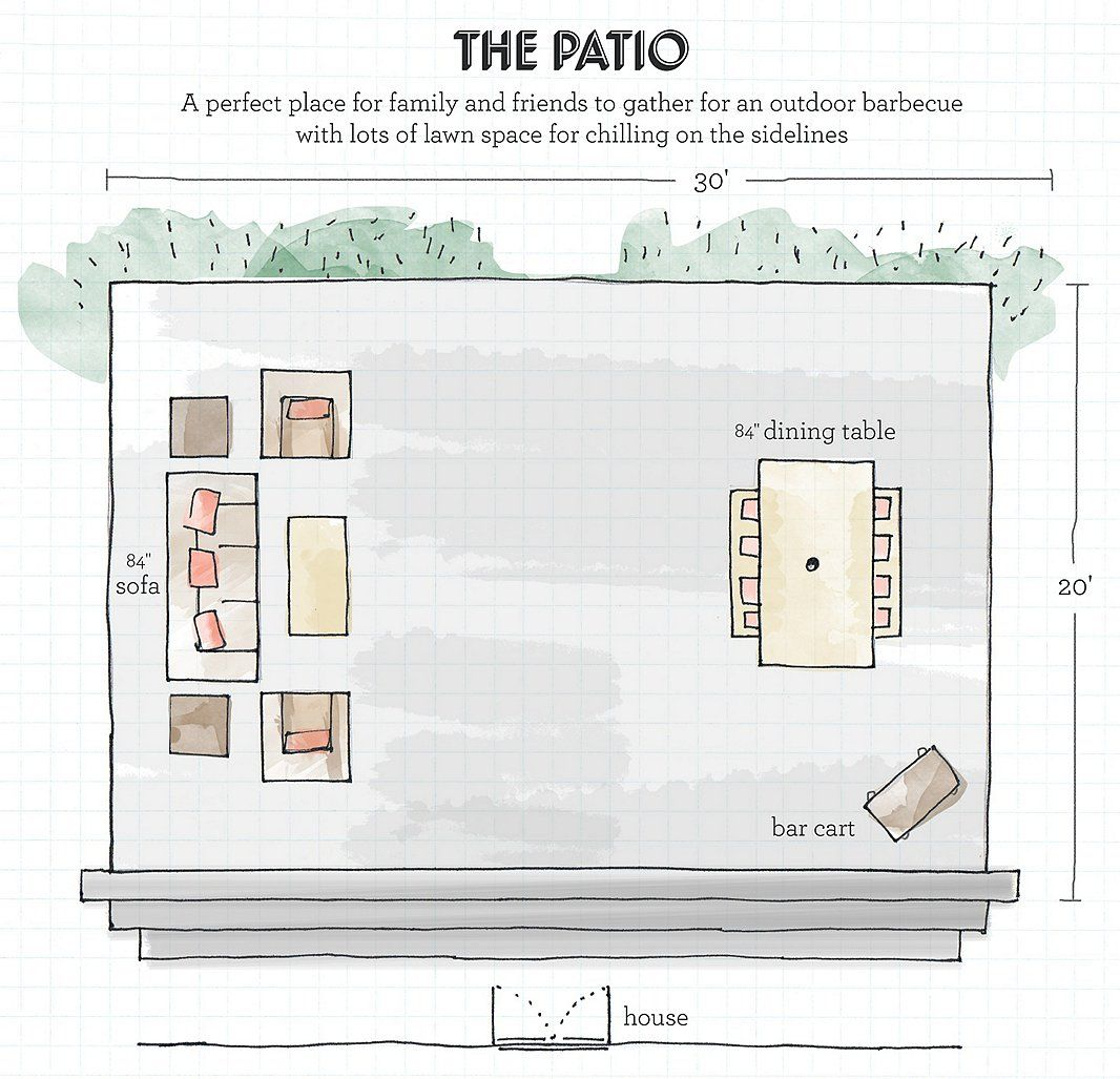 A Designer's Guide to Creating Your Dream Outdoor Space ... on Garden Patio Designs And Layouts id=67990