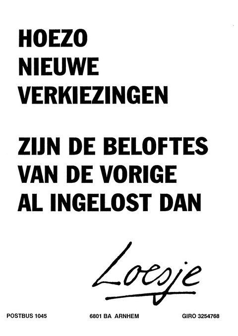 Loesje V D Posters On Twitter Niederlandische Zitate