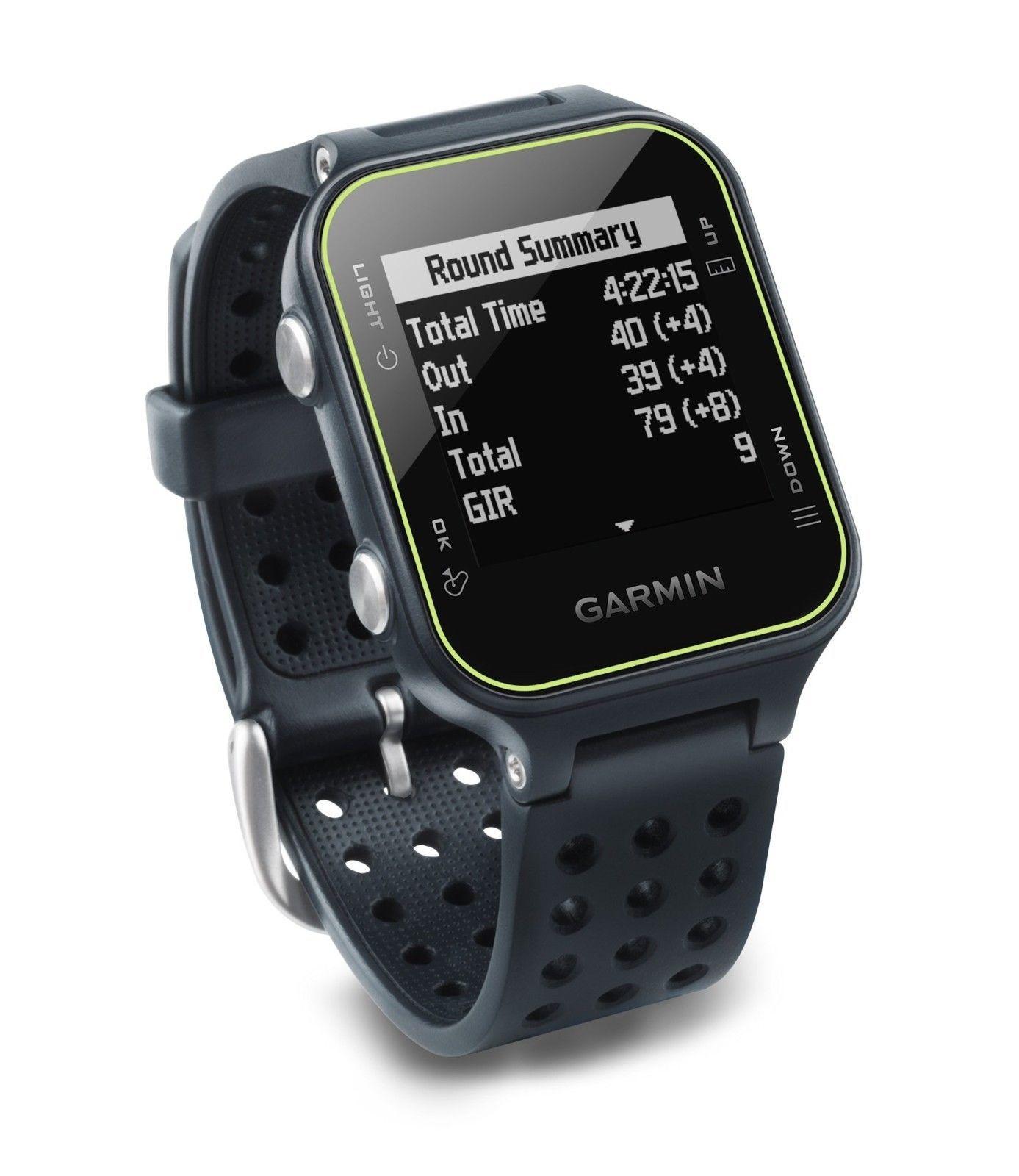 GPS Golf Smart Watch Slate Garmin Approach S20 Bluetooth