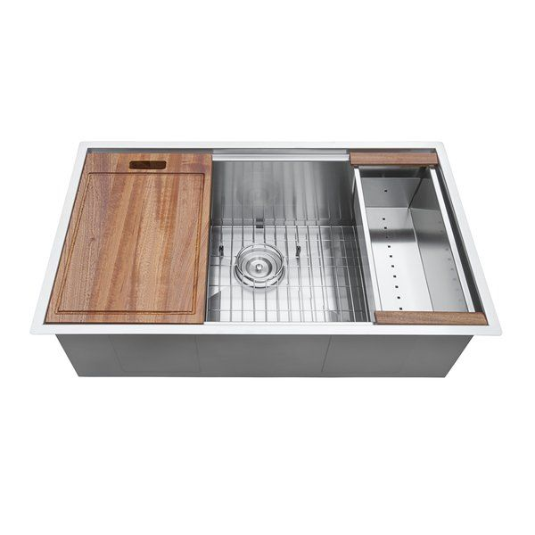 Roma Workstation Ledge 32 L X 19 W Undermount Kitchen Sink Undermount Kitchen Sinks Ledge Kitchen Sinks Kitchen Remodel Small