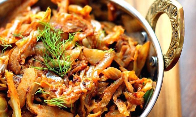 Indian Style Spiced Cabbage Recipe Healthy Indian Recipes Cabbage Recipes Veggie Recipes