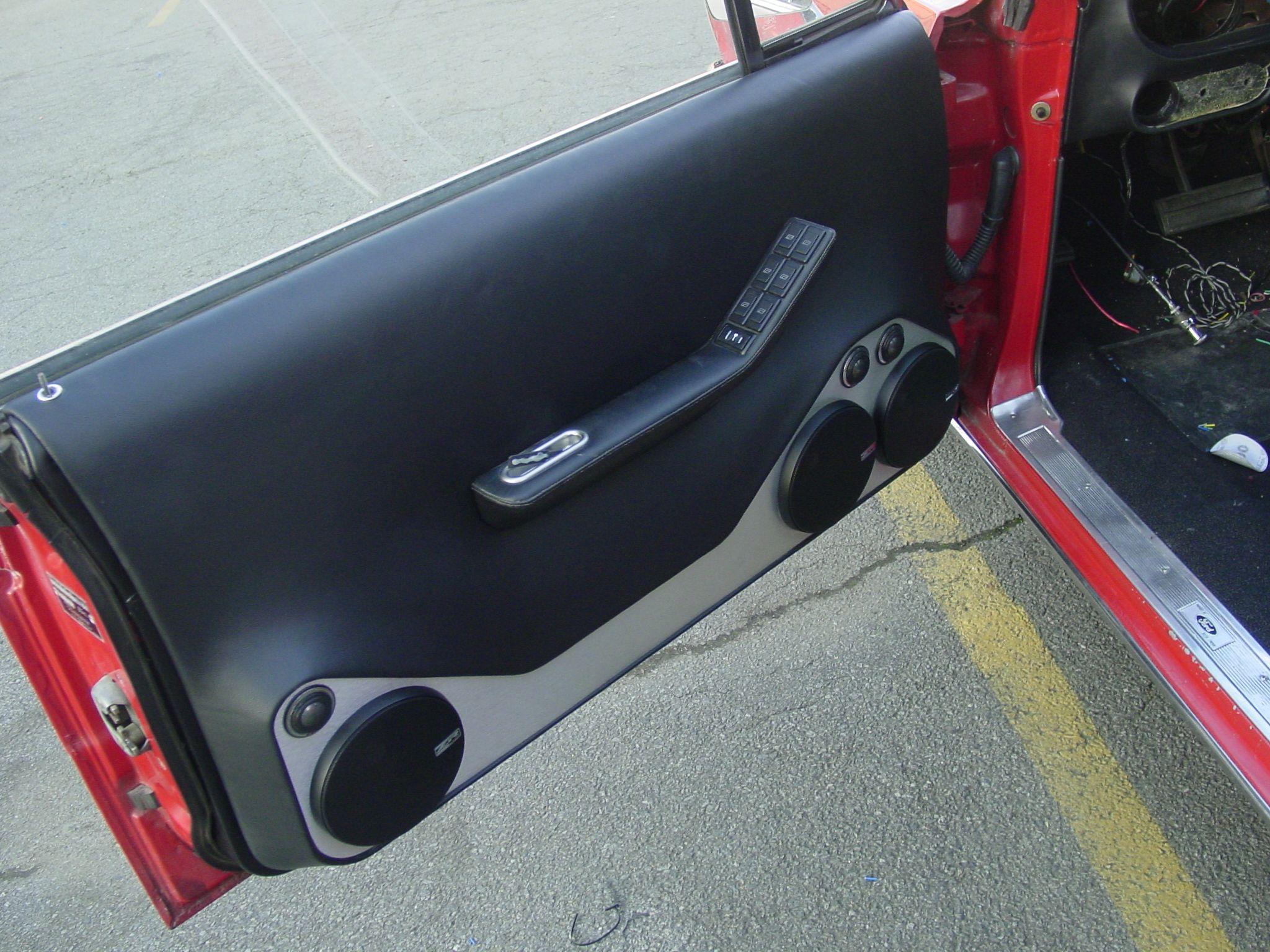 Ford Galaxie 1965 Custom Door Panel Car Audio Installation Custom Car Audio Car Audio