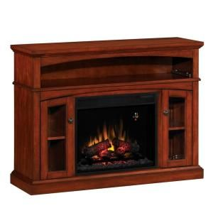 48 in media console electric fireplace in vintage cherry 23mm6072 rh pinterest cl