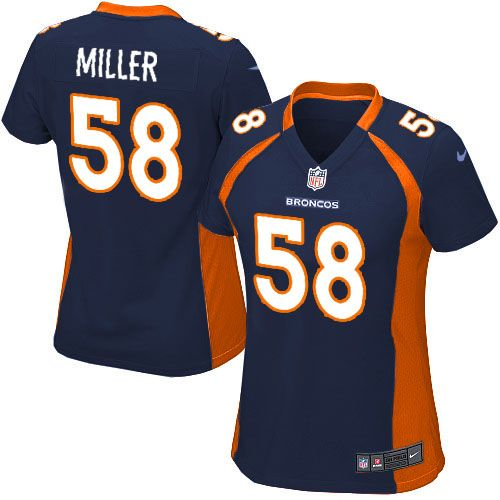 All Size Free Shipping Limited Womens Nike Denver Broncos http    58 Von  Miller Dark Blue NFL Jersey. Have your Limited Womens Nike Denver Broncos  ... 0075791de