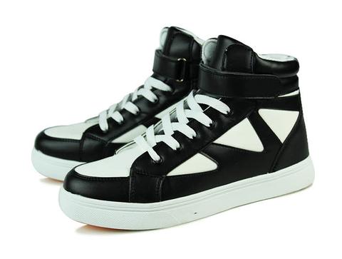 mens trendy hightop velcro casual sneakers  running