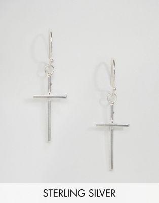 Kingsley Ryan Sterling Silver Cross Drop Earrings