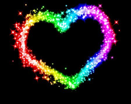 Colored Heart | Colorful heart, Queens wallpaper, Love symbols
