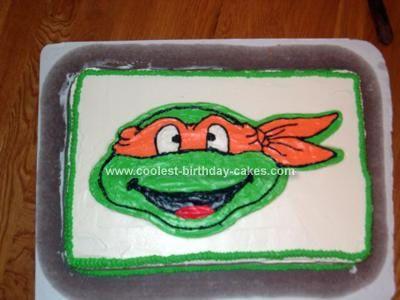 Coolest Michelangelo Ninja Turtle Cake In 2020 Ninja
