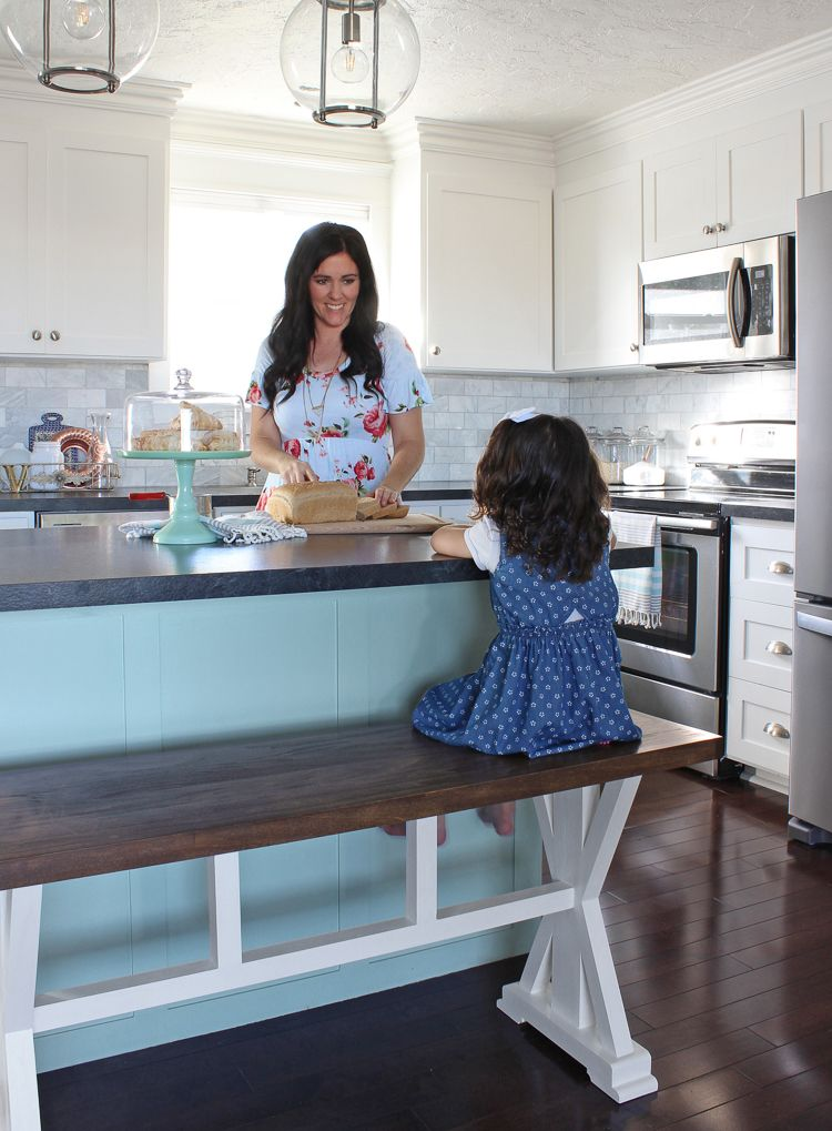 DIY Counter Height Bench Free Building Plans. Put A Bench At The Kitchen  Island Instead Of Bar Stools.