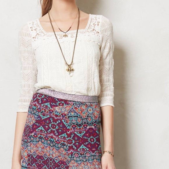 Anthro Lace Melange Top Get free shipping! Offer $6 off listed - acceptance of offer