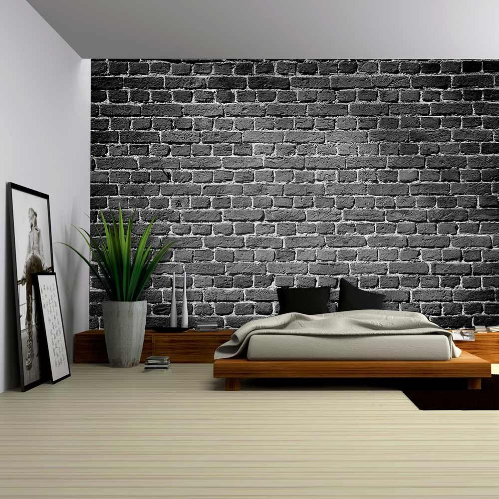 wall26 Old Dark Brick Wall, Texture Background