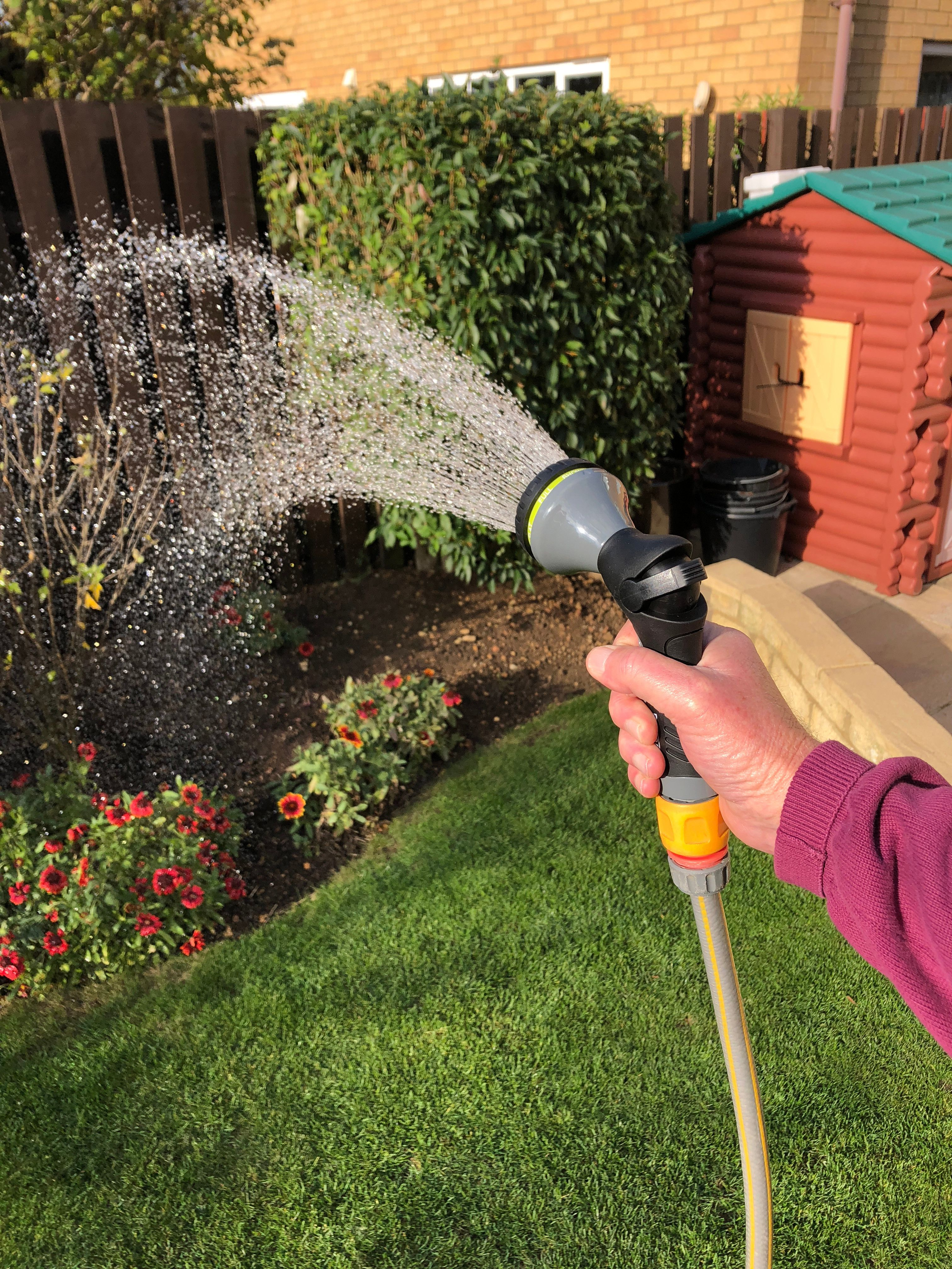 Shower Pattern Davaon Metal Garden Hose Spray Perfect For Water