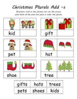 $ Kindergarten Common Core Christmas & Winter Cut N Paste Plurals. Plus, see product description for a special one day offer. Purchase of this activity receives the Christmas Leveled Number Mazes FREE! Today only! See product description for details.