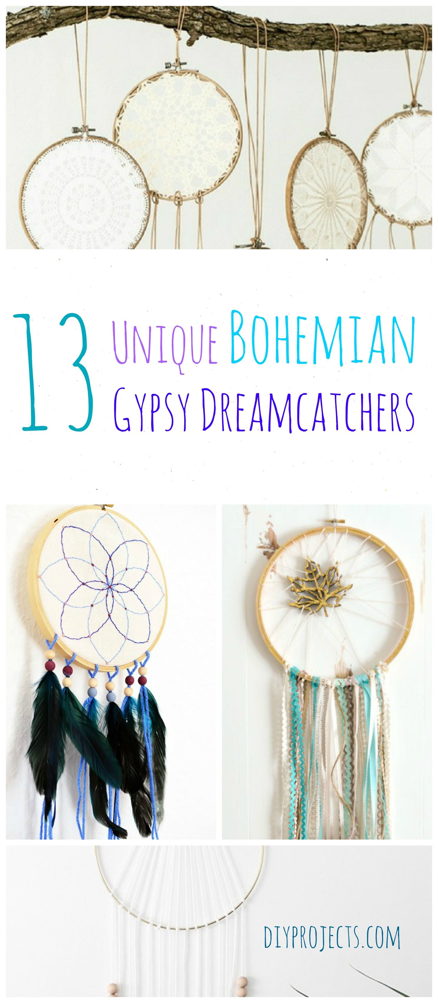 How to Make Gypsy Dreamcathcers | Dreamcatchers, Bohemian and Holidays