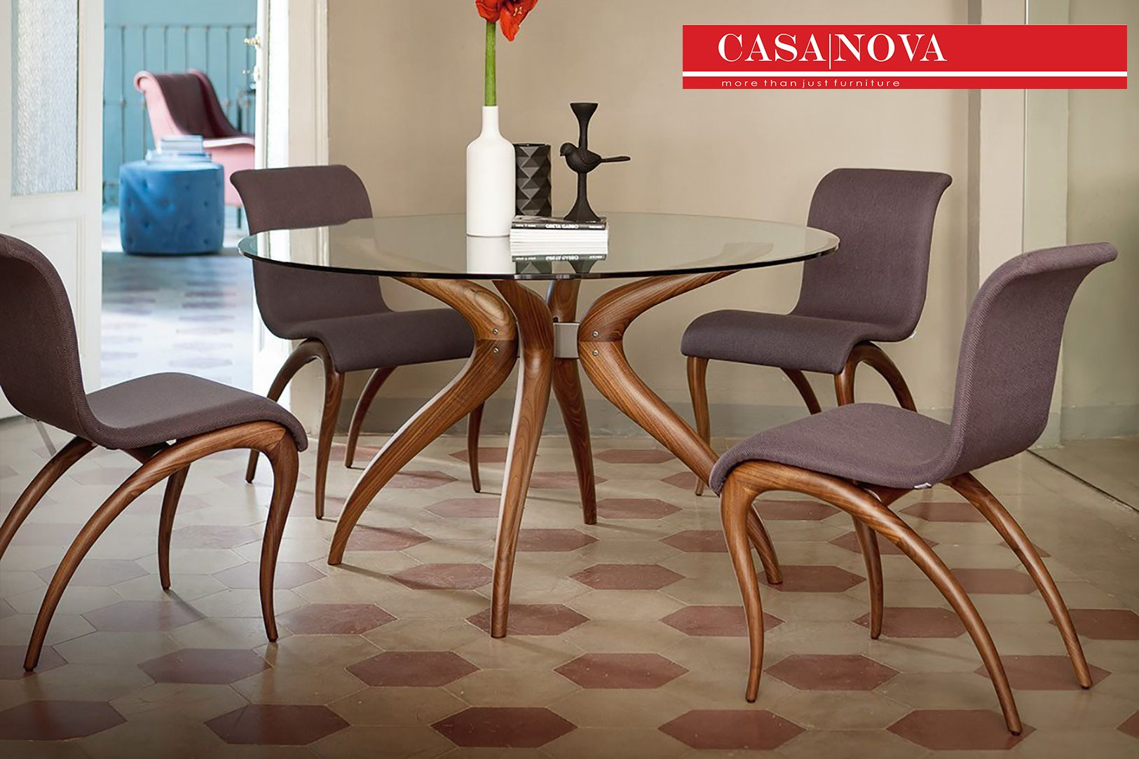 Chair With Frame In Solid Or Canaletta Walnut And Cover In The  # Muebles Kasa Design