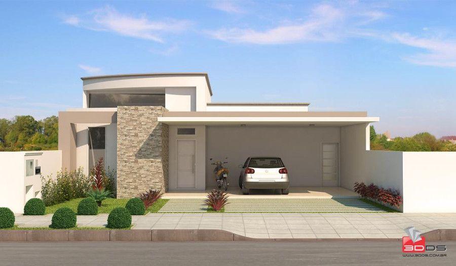 Fachadas de casas e muros veja modelos e dicas for Modelos de fachadas de casas
