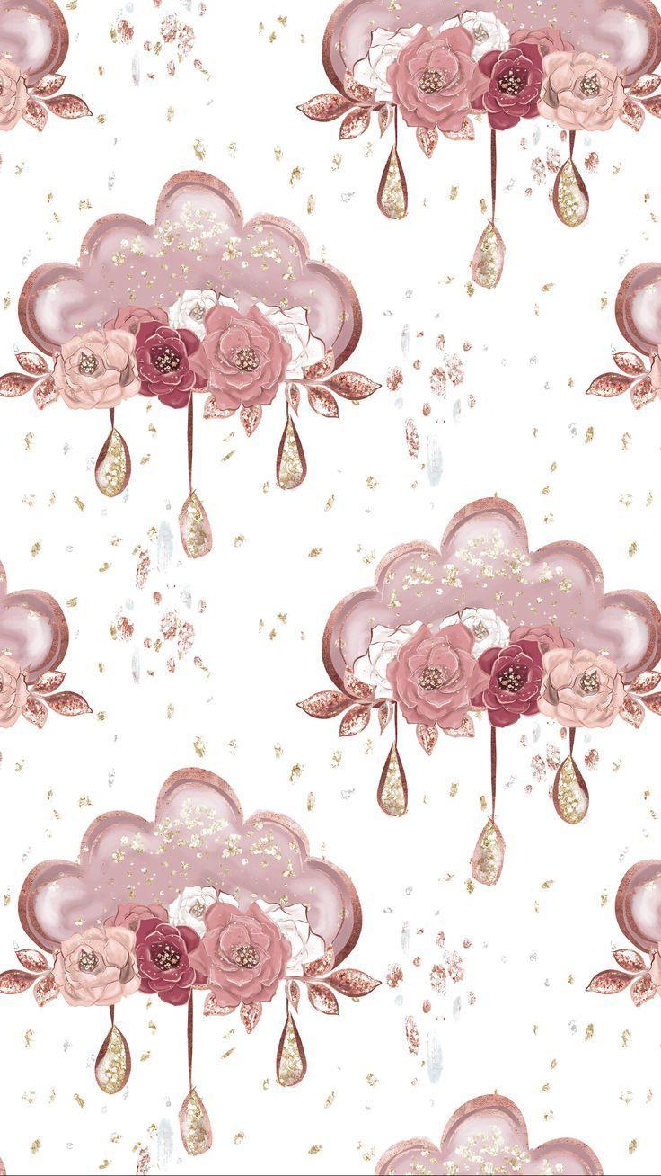 Backgrounds Cute Cutewallpaperbackgrounds Disney Flower Gold Phonebackgroundstumblrflower Rose Wallp Flower Wallpaper Cute Wallpapers Disney Wallpaper