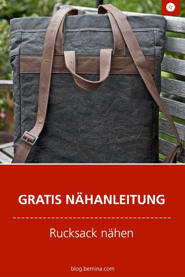 Herrenrucksack in Maßanfertigung » BERNINA Blog