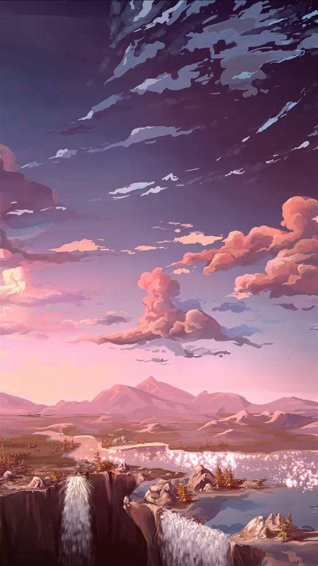 Nature Anime Art Sea iPhone 8 Wallpapers