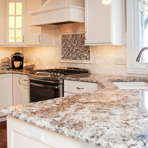 Blue Flower Granite Design Ideas, Pictures, Remodel and ...