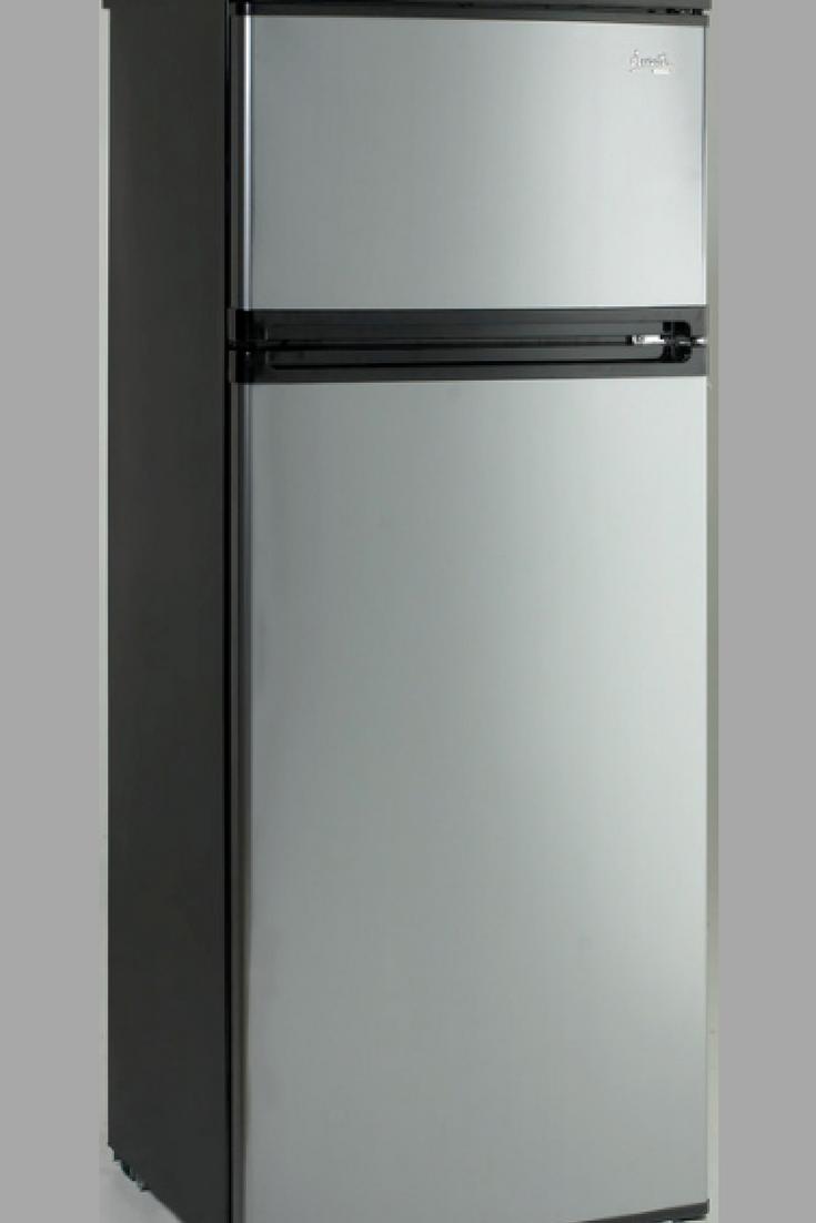 Avanti Ra7316pst 2 Door Apartment Size Refrigerator Black With Platinum Finish Fridge Small