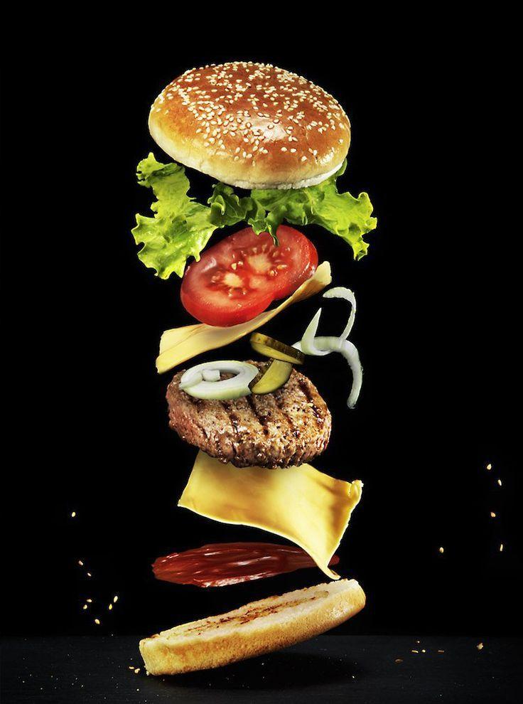 Hausgemachtes Hamburgerrezept - bereiten Sie Brot, Fleisch und Belag zu   - Recettes -