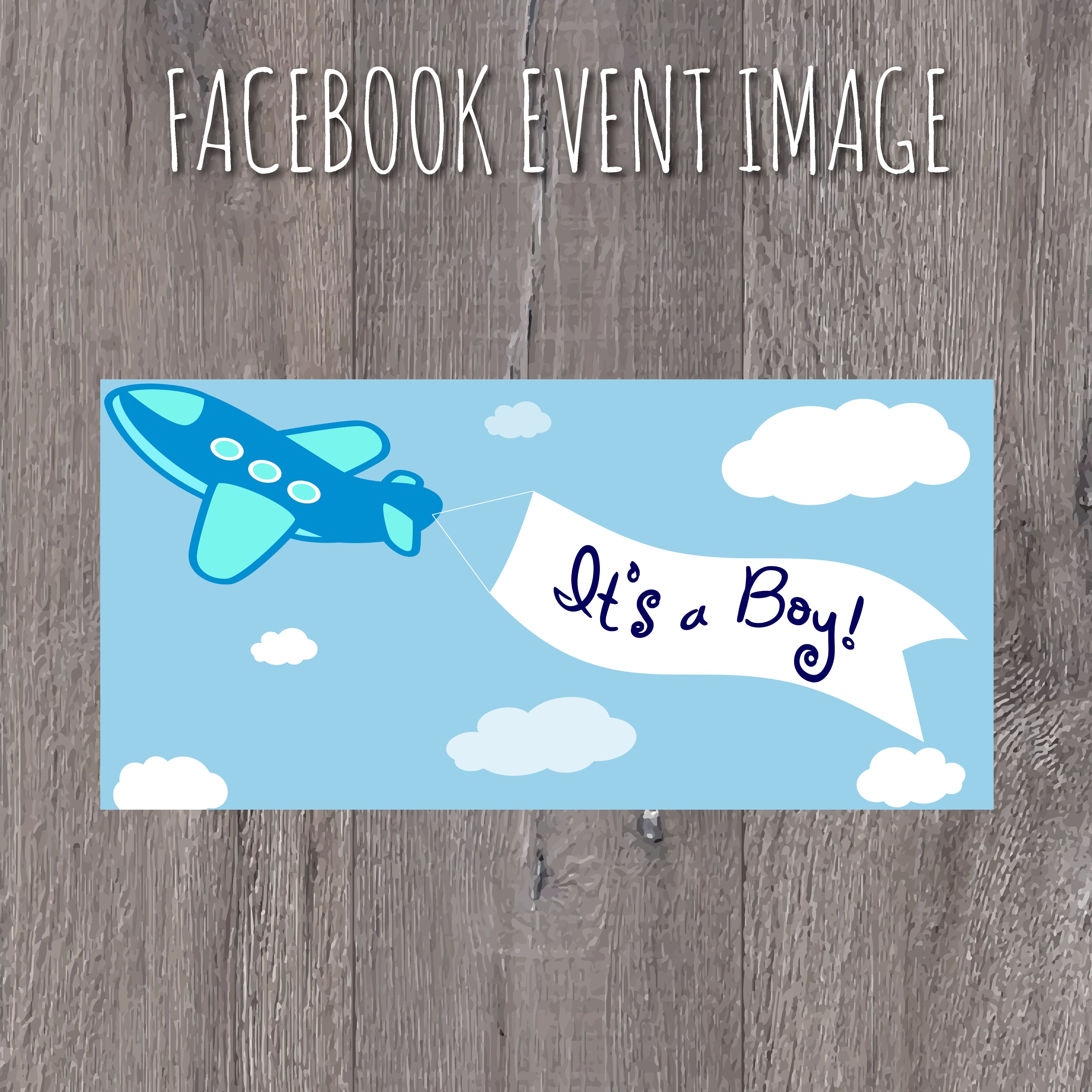 Baby Shower Facebook Event Image Its A Boy Airplanes, Baby,