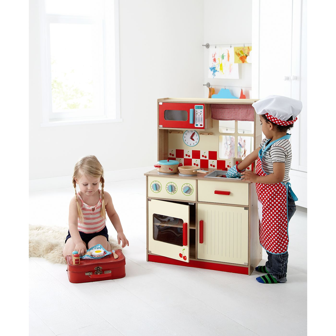 George Home Deluxe Wooden Kitchen | Pretend Play | ASDA direct ...