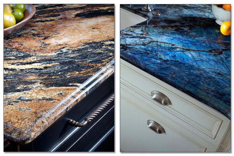 Two Unique Pieces Of Blue Granite Granite Quartz Countertops